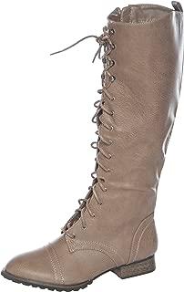 Breckelle's Women's Stacked Chunky Heel Back Zip Stylish Fringe Short Booties