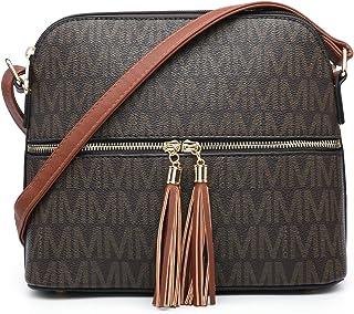MKP Lightweight Medium Crossbody Bags Purses for Women Signature Shoulder Messenger Bag w/Front Tassel Zipper Pocket