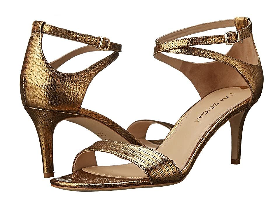 Via Spiga Leesa (Gold Metallic Lizard Print) Women