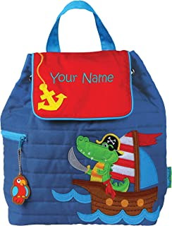 Personalized Stephen Joseph Pirate Alligator Quilted Backpack with Embroidered Name