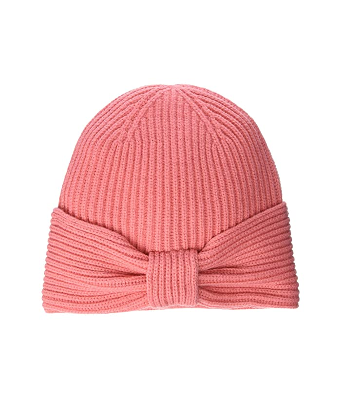 Kate Spade New York  Solid Bow Beanie (Chilled Apricot) Beanies