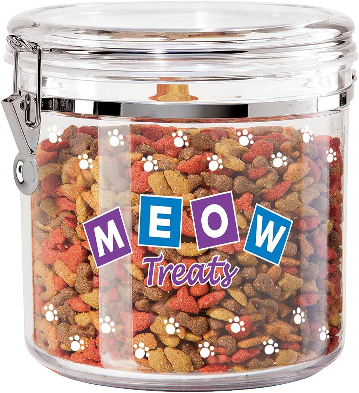 Oggi Jumbo Acrylic Airtight Pet Treat Canister with Food Storage