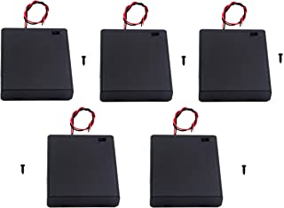 WAYLLSHINE 5PCS ON/OFF Switch With Cover 4x 1.5V AA Battery Holder Battery Case Battery Box with 5.5
