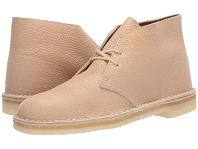 Clarks Desert Boot (Off-White Leather) Men