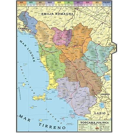 Cartina Topografica Emilia Romagna.Carta Geografica Murale Regionale Toscana 100x140 Bifacciale Fisica E Politica Amazon It Cancelleria E Prodotti Per Ufficio