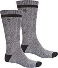 Timberland Men's 2-Pair Pack Polyester/Cotton Blend Crew Socks
