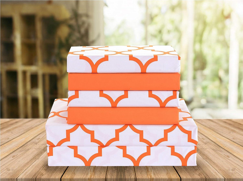 Elegant Comfort Luxury Soft Orange Bed Sheets