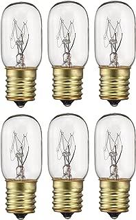 Pack of 6 40-Watt T8 Tubular Indicator Intermediate (E17) Base 40T8 Incandescen Light Bulb