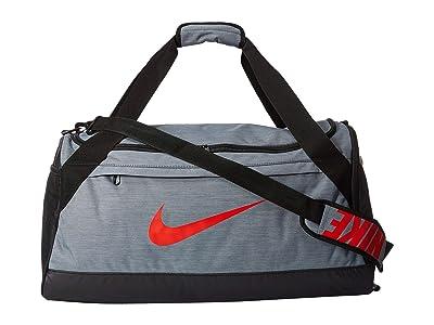Nike Brasilia Medium Duffel Bag (Cool Grey/Black/Habanero Red) Duffel Bags