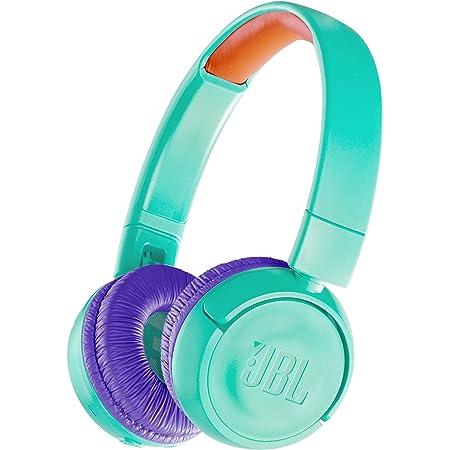 JBL JR300BT 子供向け Bluetoothヘッドホン 音量制御機能搭載/カスタマイズシール付属 ティール/パープル JBLJR300BTTEL 【国内正規品/メーカー1年保証付き】