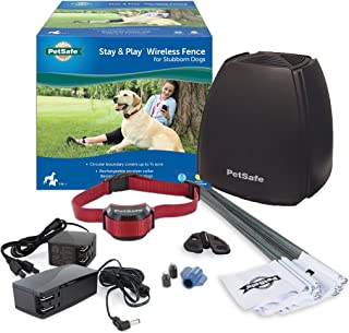 Best PetSafe Stay and Play Wireless Fence for Stubborn Dogs from the Parent Company of Invisible Fence Brand - Above Ground Electric Pet Fence with Waterproof and Rechargeable Training Collar Review