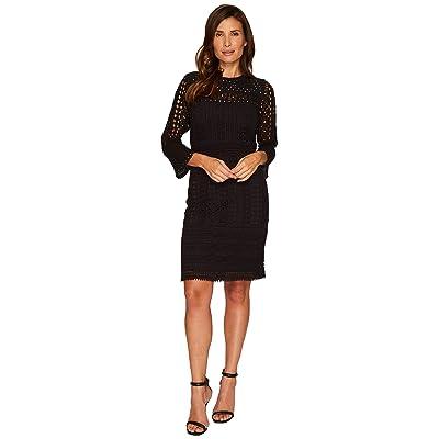 NIC+ZOE Lacey Knit Dress (Black Onyx) Women