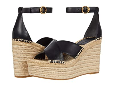 Tory Burch Selby 105 mm Wedge Espadrille (Perfect Black/Perfect Black) Women