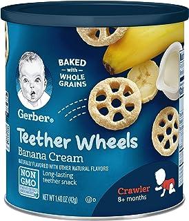 Sponsored Ad - Gerber Teether Wheels, Banana Cream, 1.48 Ounce (Pack of 6)