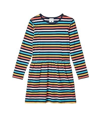 Toobydoo Rainbow Striped Skater Dress (Toddler/Little Kids/Big Kids)