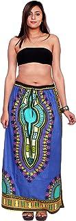 Handicraft-Palace Women's Dashiki Printed Cotton Full Length Skirt Mid-Calf Skirt for Woman