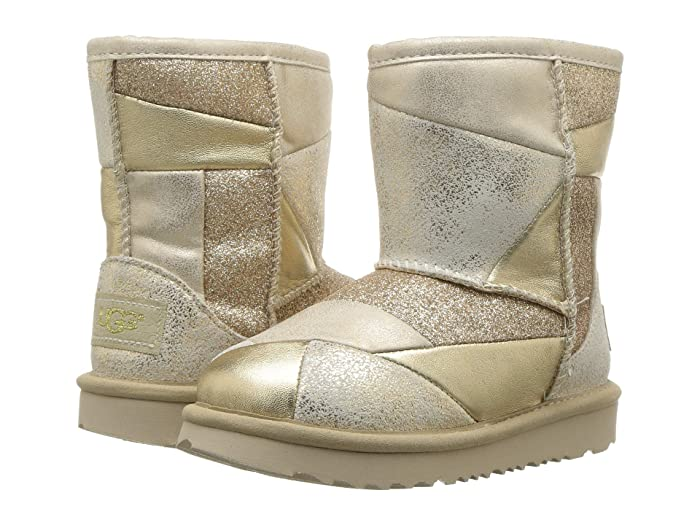 UGG Kids Classic Short II Patchwork (Toddler/Little Kid)