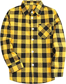 Sponsored Ad - SANGTREE Men & Boy Plaid Button Down Shirt, 3 Months - Men 9XL