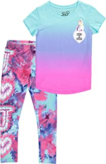 Jojo Siwa Girls' Tie Dye Short Sleeve T-Shirt and Leggings Set