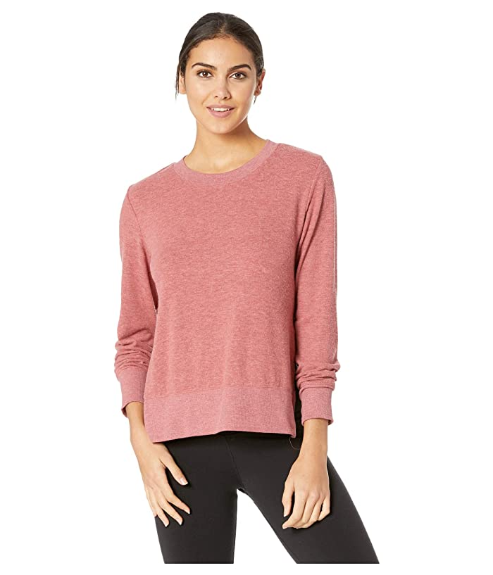 ALO Glimpse Long Sleeve Top (Rosewood Heather) Women