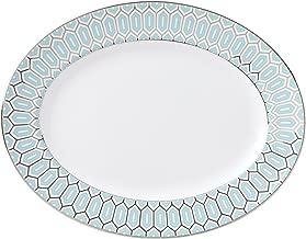 Lenox Brian Gluckstein Clara Aqua Oval Platter