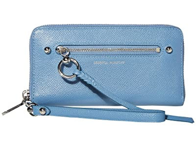 Rebecca Minkoff Gabby Phone Wallet (Cement Blue) Handbags