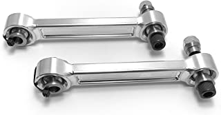 CAN-AM MAVERICK X3 Fixed Heavy Duty Made In The USA Rear Sway Bar Links (Machine Finish (Silver))