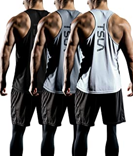 TSLA Men's (Pack of 1 or 3) Workout Muscle Tank Sleeveless Gym Training Active Workout Cool Dry Top Shirt