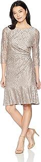 فستان ضيق من الدانتيل للنساء من Jessica Howard مع حاشية مكشكشة