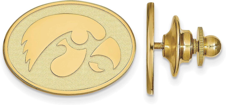 LogoArt Sterling Silver Gp University Nippon Gorgeous regular agency Pin Iowa of Lapel