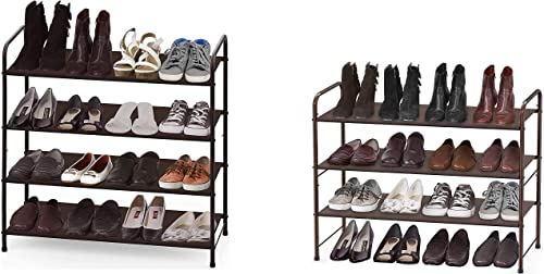 wholesale Simple online sale Houseware 4-Tier + 3-Tier Shoe Rack Storage Organizer, online sale Bronze sale