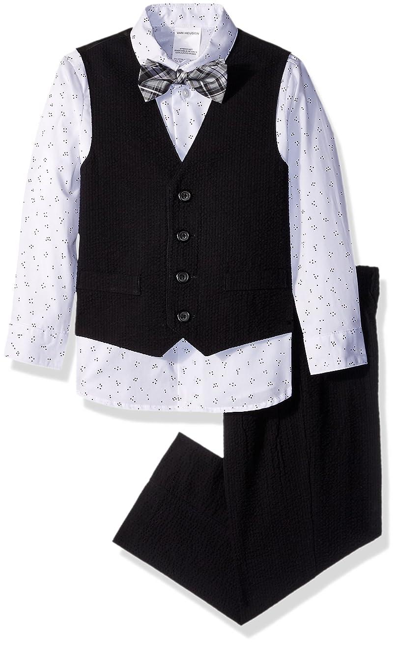 Van Heusen Boys' Little 4-Piece Formal Bow Tie Vest Set