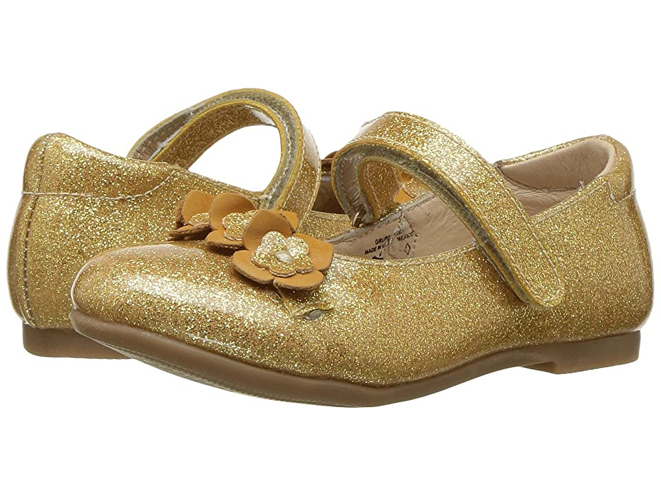 Kid Express Rose (Toddler/Little Kid) (Gold Glitter Patent) Girl