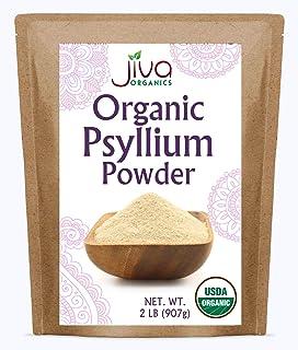 Jiva Organics Organic Psyllium Husk Powder Fine (95% Purity) 2LB