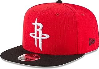 New Era NBA Houston Rockets Men's 9Fifty Original Fit 2Tone Snapback Cap, One Size, Red