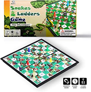 Mart NS Magnetic Snake and Ladder Board Game (10 Inches)