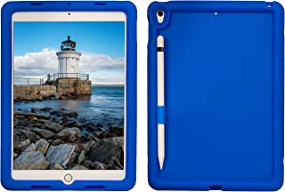 Bobj Rugged Case for iPad Pro 10.5 (2017) and iPad Air 10.5 (2019) - BobjGear Custom Fit - Patented Venting - Sound Amplification - BobjBounces Kid Friendly (Batfish Blue)