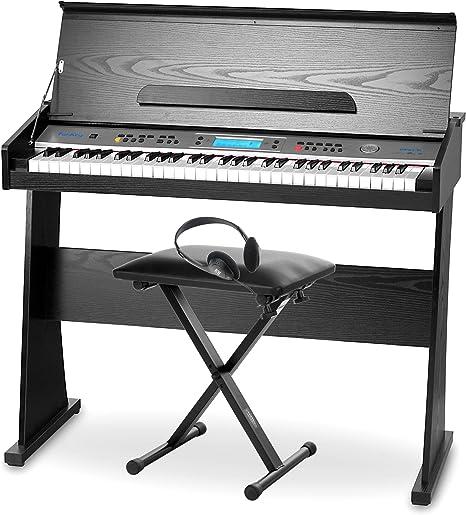 FunKey II DP-61 Piano digital con soporte, negro (incluye banqueta y auriculares)