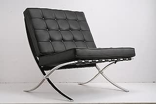 Ludwig Mies ven der Rohe Barcelona Pavilion silla negro piel italiana para