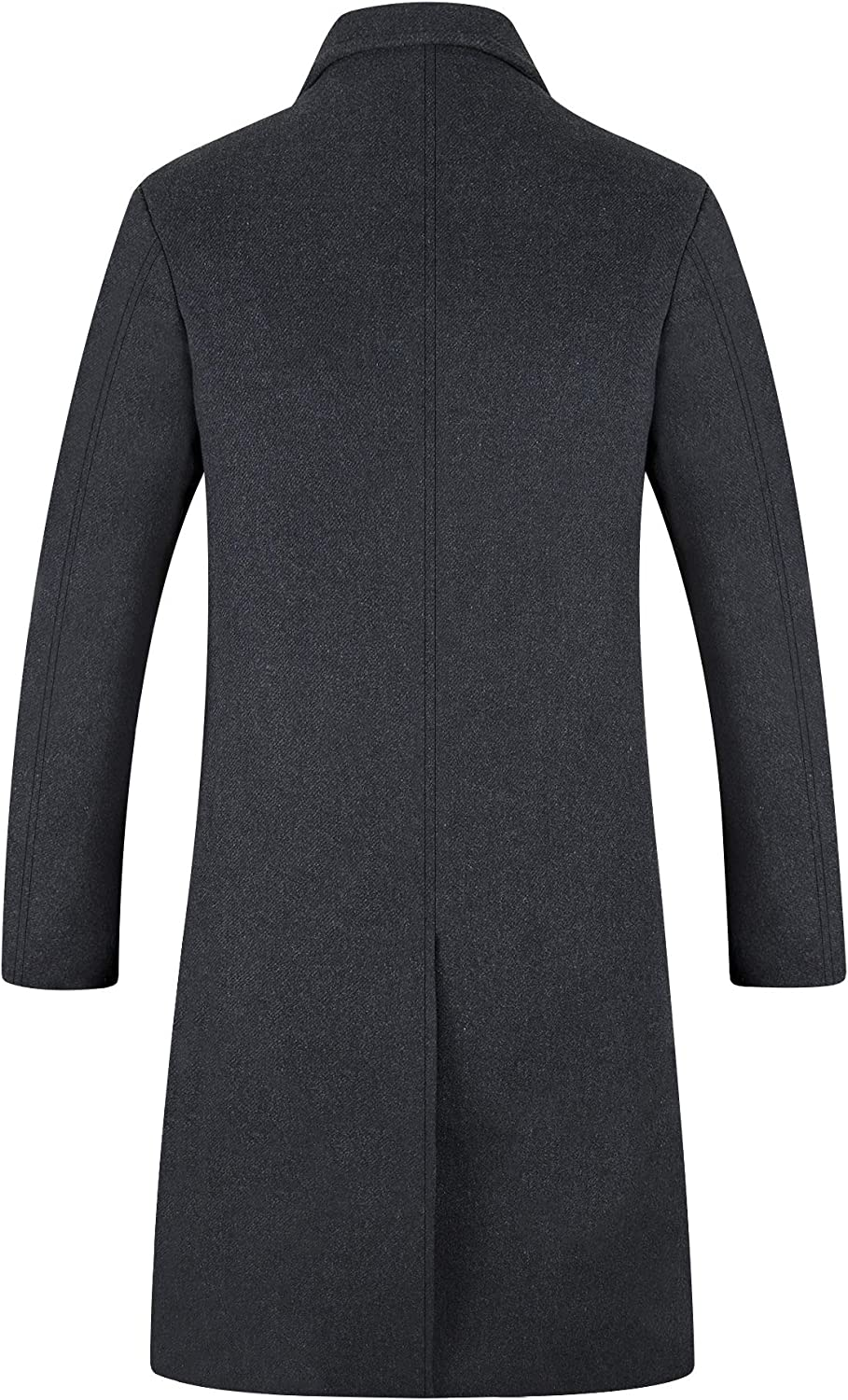 Mens Trench Coat 80/% Wool Content French Long Jacket Winter Business Top Coat