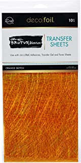 THERMOWEB Deco Foil by Brutus Monroe 6 x 12 Sketch (10 Sheets per Pack), Orange Glow, one Size