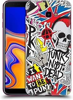 Head Case Designs Punks Not Dead Sticker Happy - New Hard Back Case Compatible for Samsung Galaxy J4+ / Plus