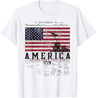 4TH OF JULY T SHIRT AMERICA ESTABLISHED JULY 4TH 1776