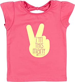 Fayfaire Second Birthday Outfit Girl | 2nd Bday Gift Shirt & Tutu I'm This Many 2T-3T