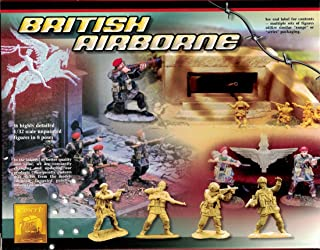 Conte World War II British Airborne Set #1 - 16 Highly Detailed 1/32 Scale Plastic Toy Soldiers