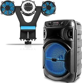 $69 » Sponsored Ad - Technical Pro Speaker and Grill Fan Kit, 8 Inch 100W Bluetooth Speaker Woofer/Tweeter Festival PA LED Speak...