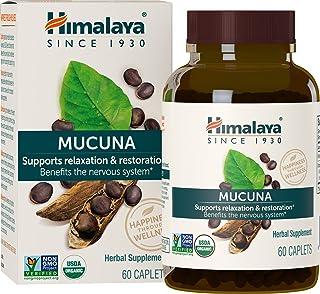 Himalaya Organic Mucuna Pruriens / Kapikachhu, Equivalent to 3,706 of Mucuna Pruriens Powder for Calm & Relaxation 60 Coun...