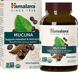 Himalaya Organic Mucuna/Kapikachhu, 60 Caplets Promotes Dopamine, 600 mg (1PACK)
