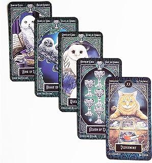 タロット・カード タロットカードデッキ、英語の運命ボードゲーム、ファミリーパーティーゲーム、険しい耐久性、カードゲーム 占いカード