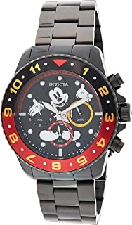 Invicta Men's Black Dial Stainless Steel Band Watch - IN-24957